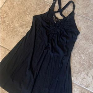 Black swim coverup Small